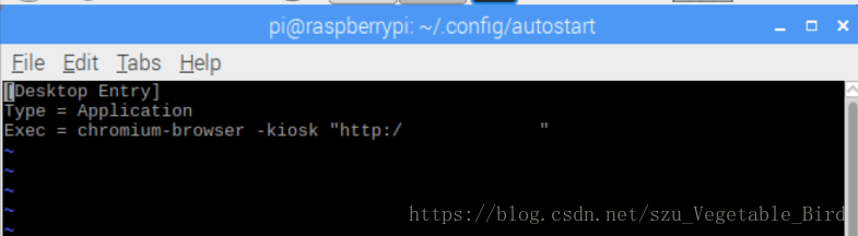 树莓派开机自启动chrome浏览器并进入某网址